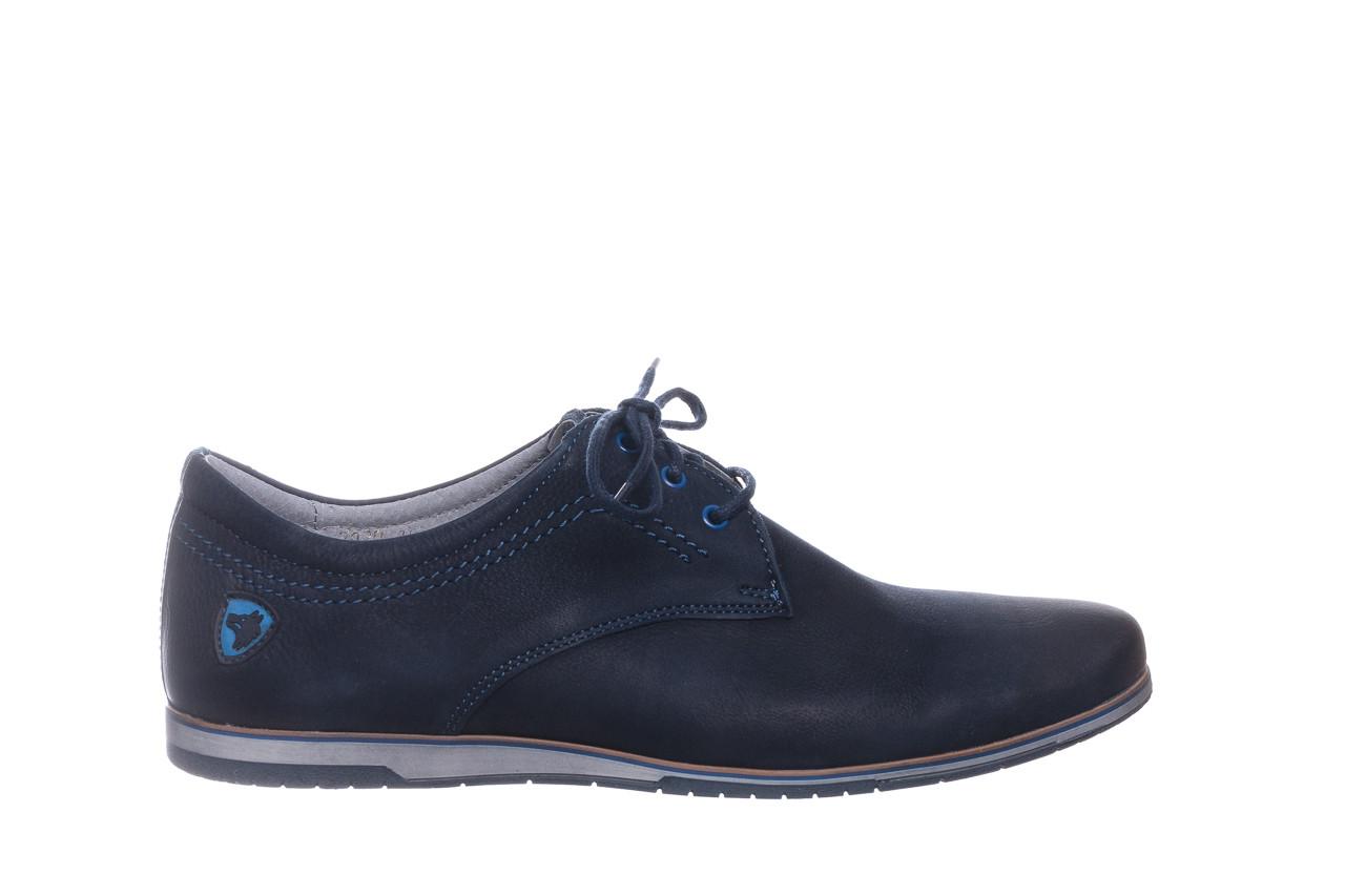 Półbuty bayla-081 877 juma blue, granat, skóra naturalna - buty męskie - mężczyzna 8