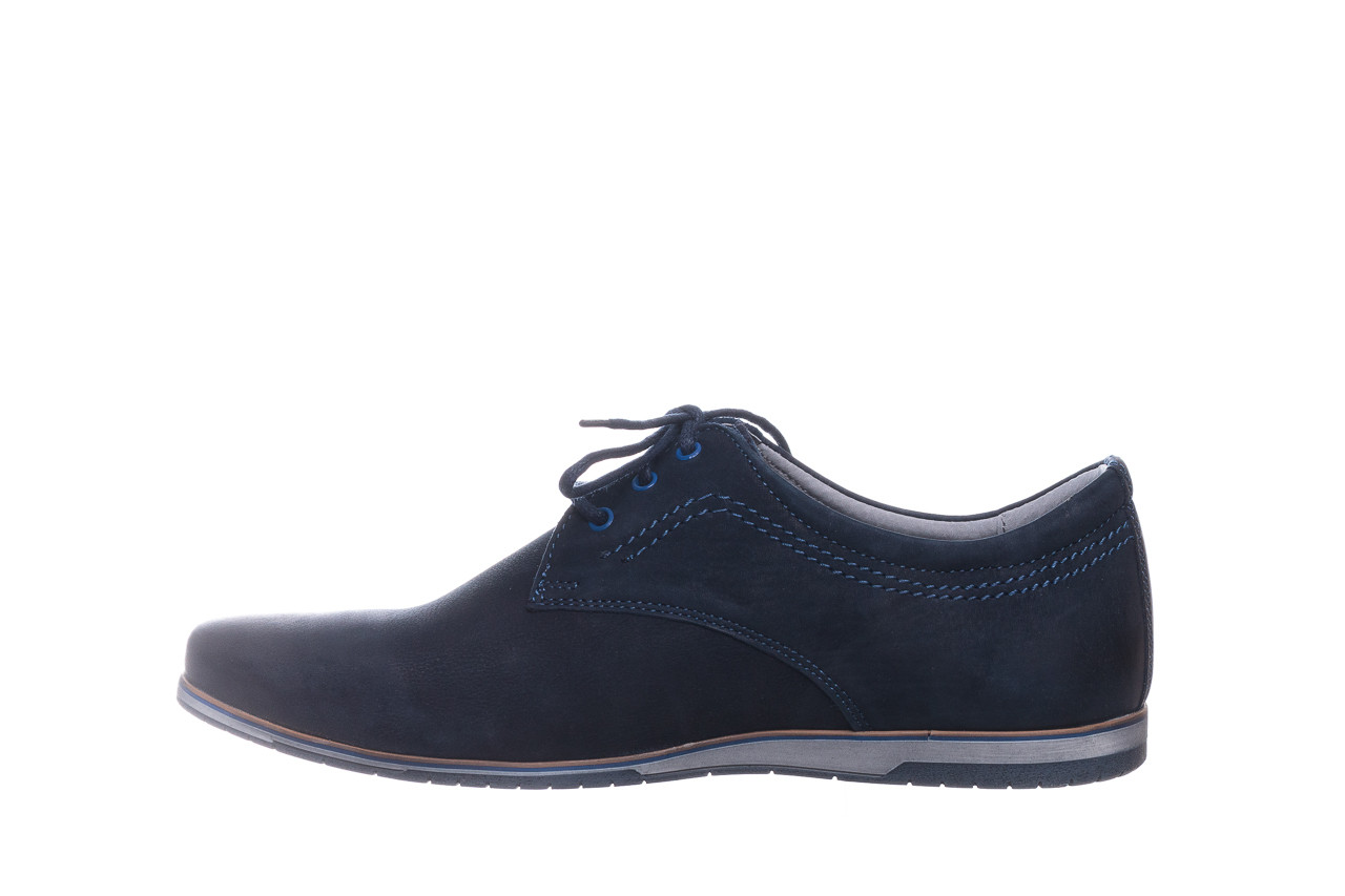 Półbuty bayla-081 877 juma blue, granat, skóra naturalna - buty męskie - mężczyzna 10