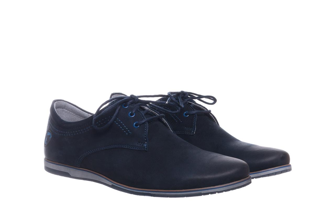Półbuty bayla-081 877 juma blue, granat, skóra naturalna - buty męskie - mężczyzna 9