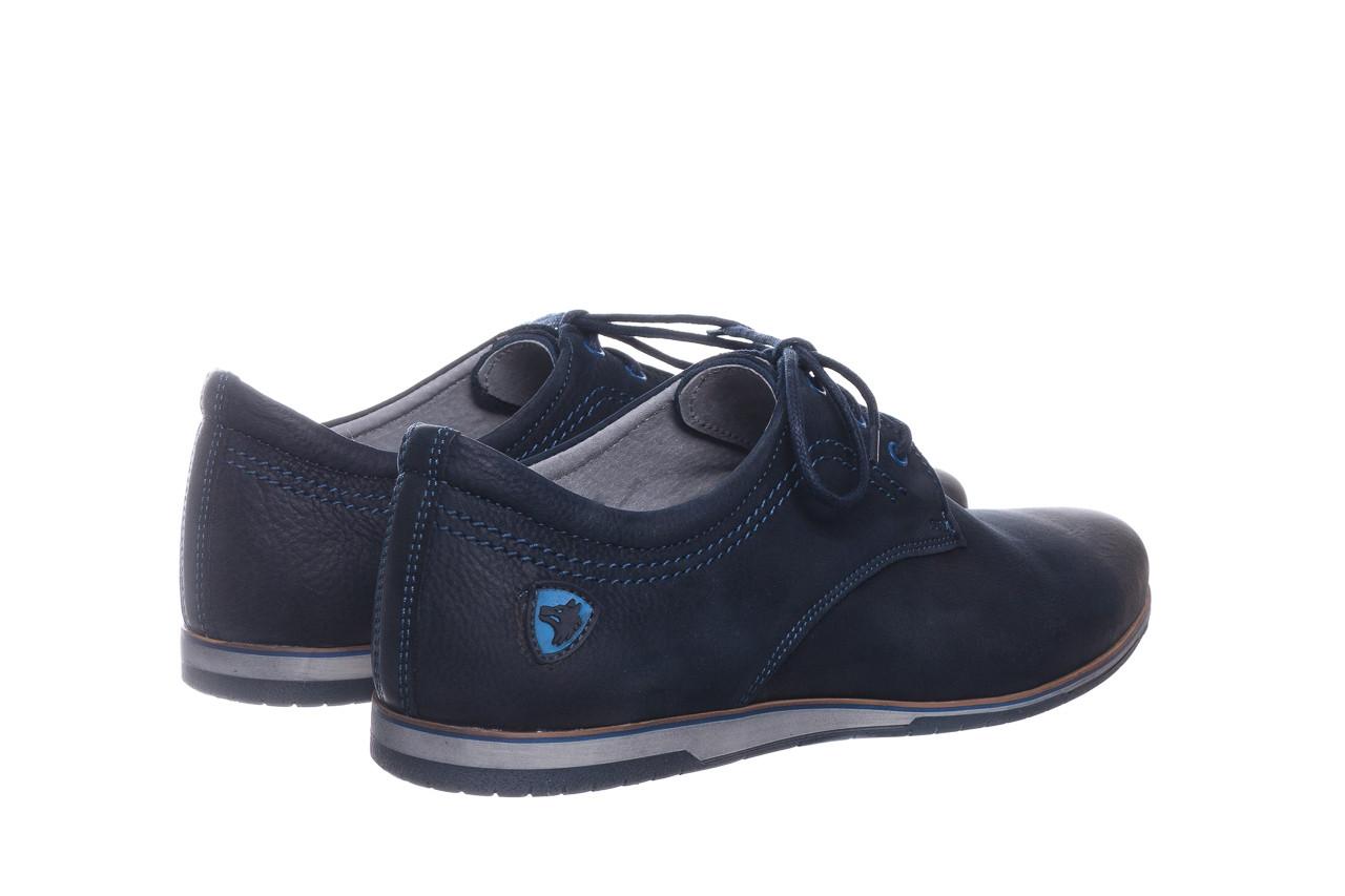 Półbuty bayla-081 877 juma blue, granat, skóra naturalna - buty męskie - mężczyzna 11