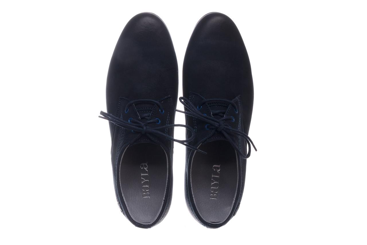 Półbuty bayla-081 877 juma blue, granat, skóra naturalna - buty męskie - mężczyzna 12