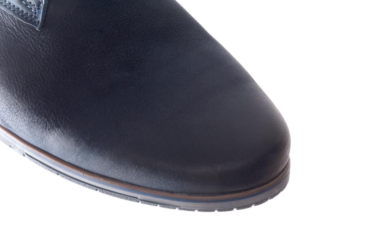 Półbuty bayla-081 877 juma blue, granat, skóra naturalna - buty męskie - mężczyzna 13