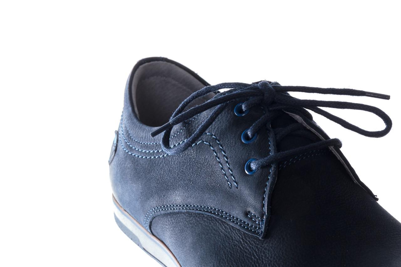Półbuty bayla-081 877 juma blue, granat, skóra naturalna - buty męskie - mężczyzna 14