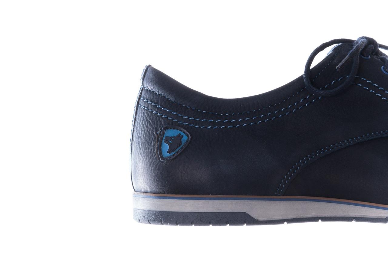 Półbuty bayla-081 877 juma blue, granat, skóra naturalna - buty męskie - mężczyzna 15