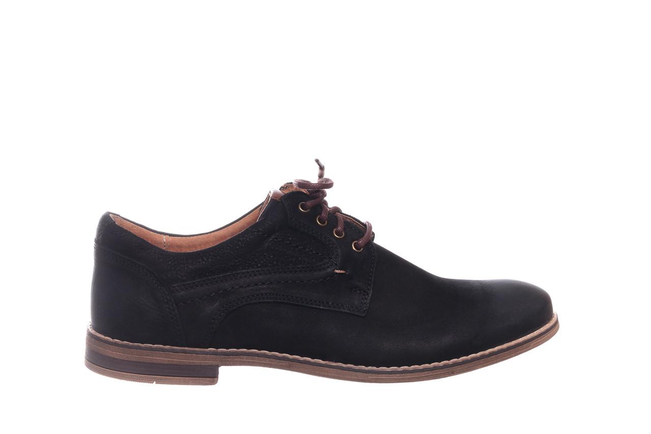 Półbuty bayla-081 831 juma czarna ax, czarny, skóra naturalna - buty męskie - mężczyzna 8