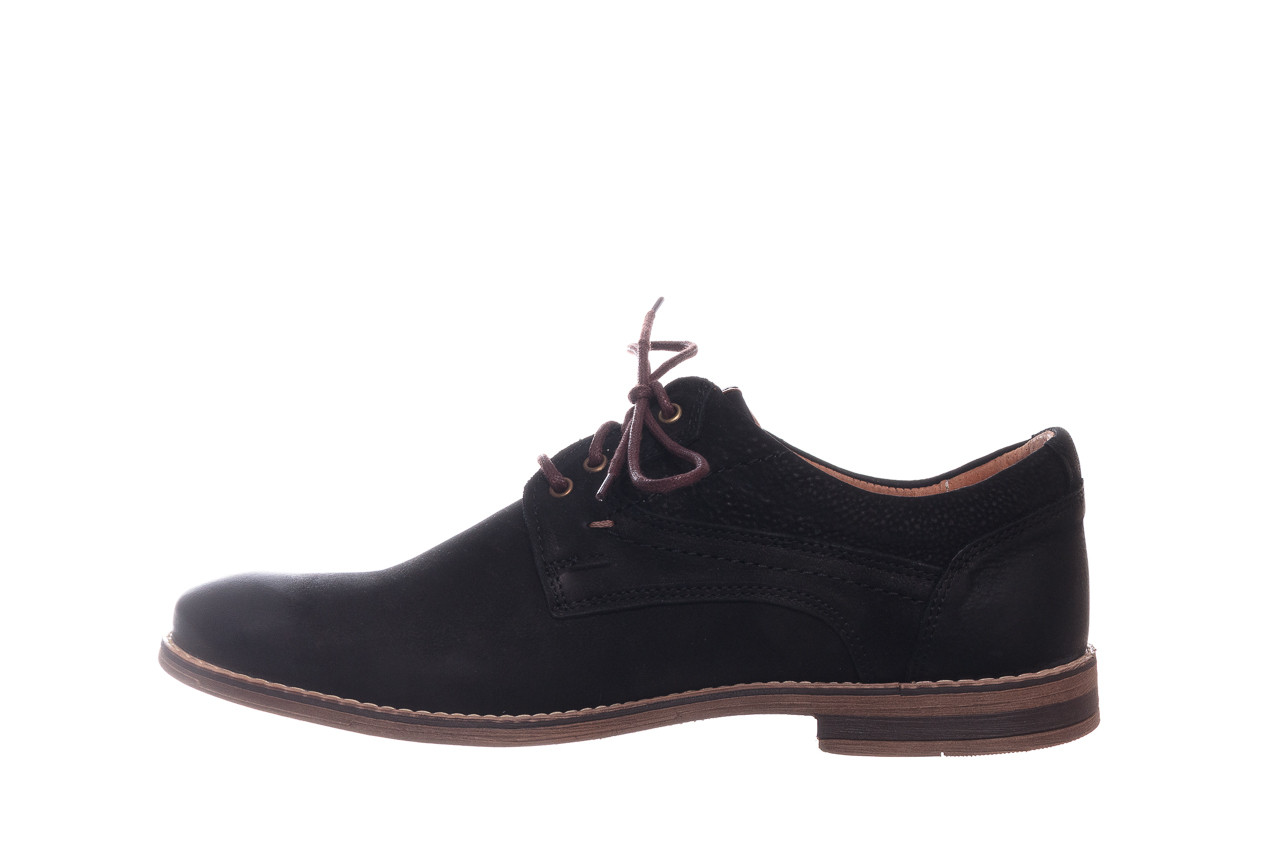 Półbuty bayla-081 831 juma czarna ax, czarny, skóra naturalna - buty męskie - mężczyzna 10