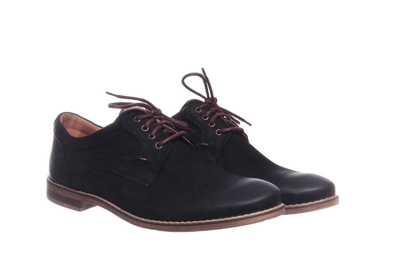 Półbuty bayla-081 831 juma czarna ax, czarny, skóra naturalna - buty męskie - mężczyzna 9