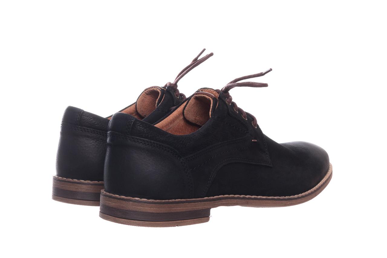 Półbuty bayla-081 831 juma czarna ax, czarny, skóra naturalna - buty męskie - mężczyzna 11