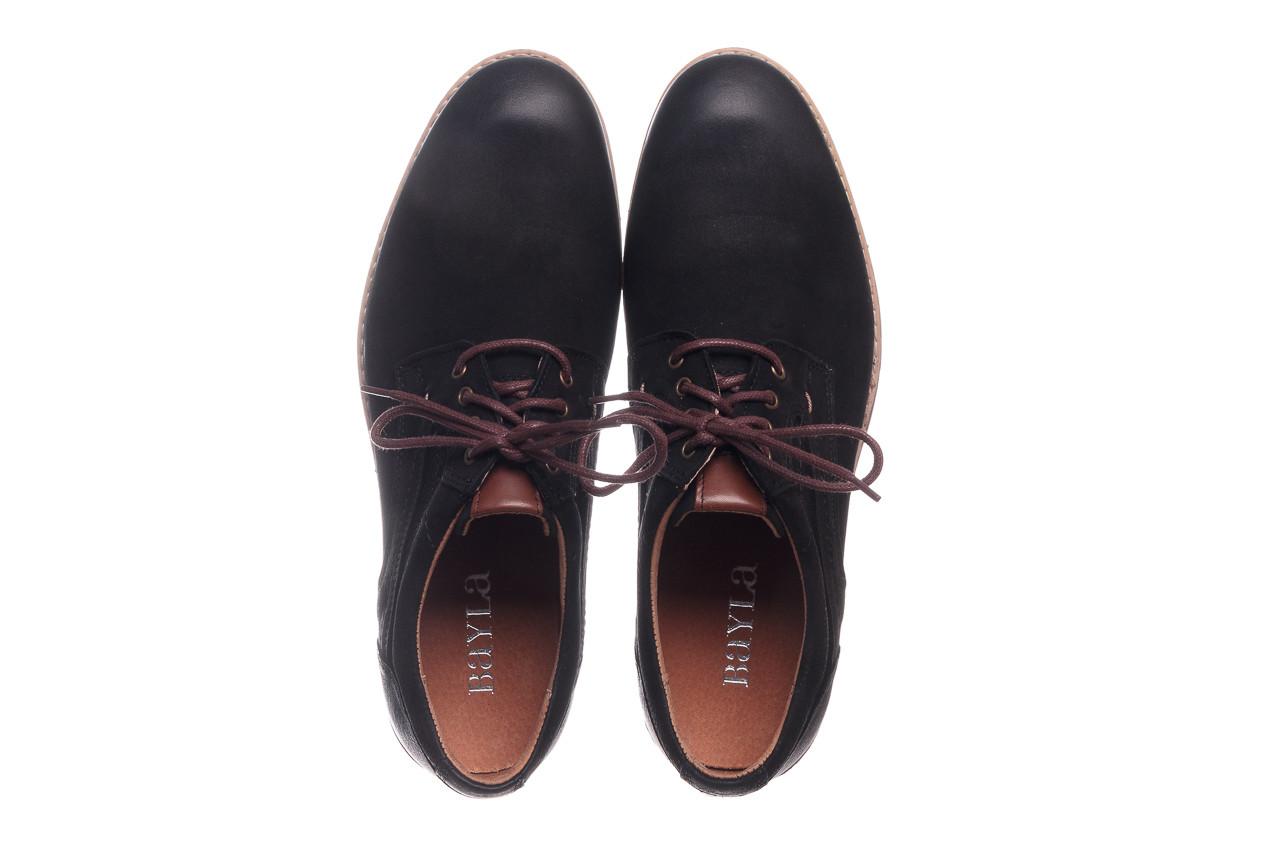Półbuty bayla-081 831 juma czarna ax, czarny, skóra naturalna - buty męskie - mężczyzna 12