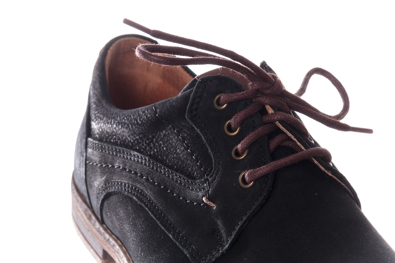 Półbuty bayla-081 831 juma czarna ax, czarny, skóra naturalna - buty męskie - mężczyzna 13