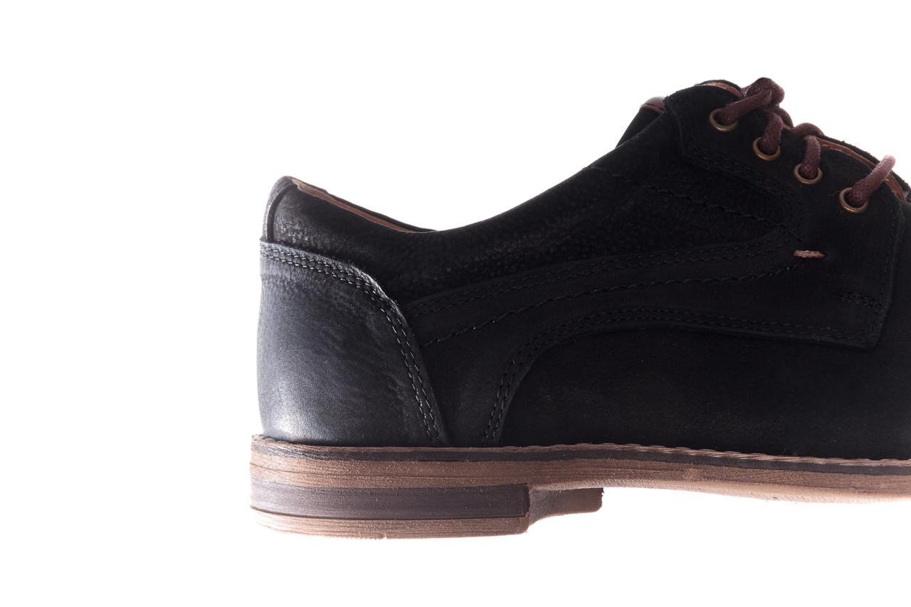 Półbuty bayla-081 831 juma czarna ax, czarny, skóra naturalna - buty męskie - mężczyzna 15