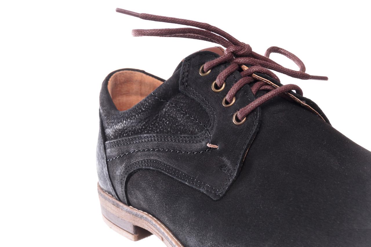 Półbuty bayla-081 831 juma czarna ax, czarny, skóra naturalna - buty męskie - mężczyzna 14