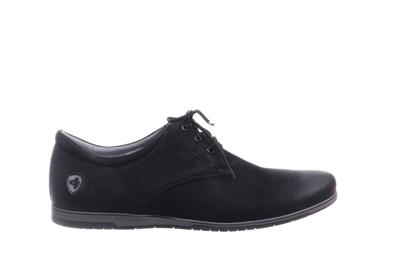 Półbuty bayla-081 877 juma czarna, czarny, skóra naturalna - buty męskie - mężczyzna 7