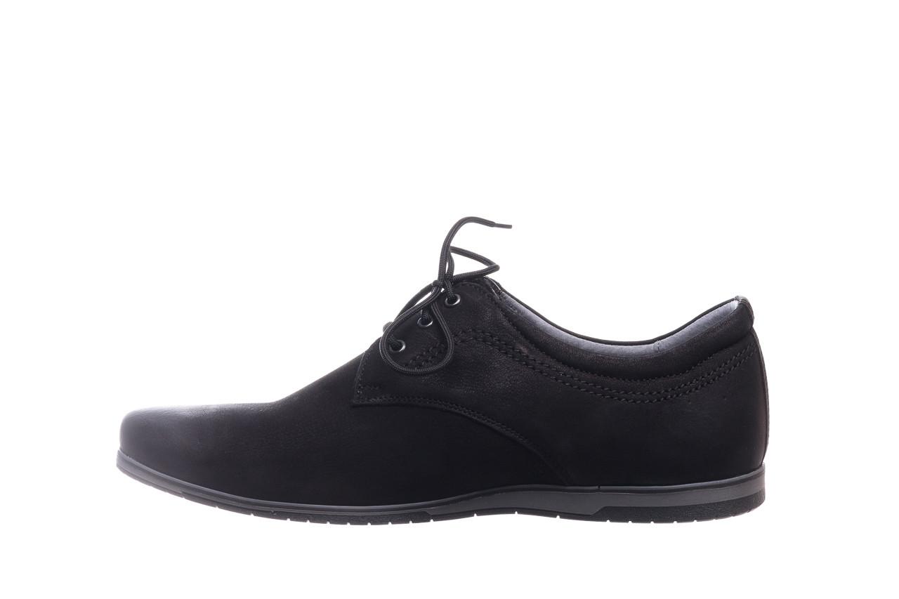 Półbuty bayla-081 877 juma czarna, czarny, skóra naturalna - buty męskie - mężczyzna 9