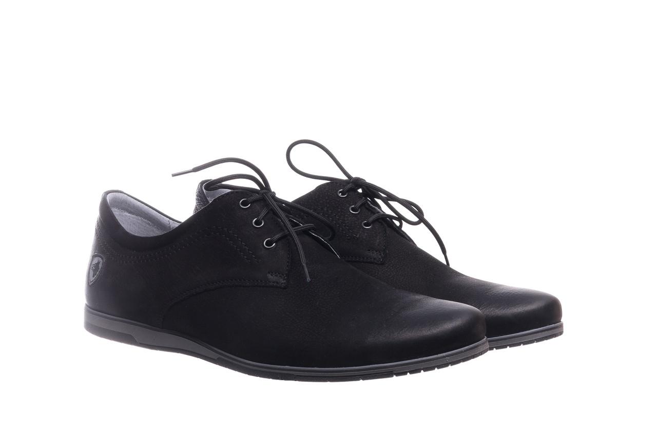 Półbuty bayla-081 877 juma czarna, czarny, skóra naturalna - buty męskie - mężczyzna 8