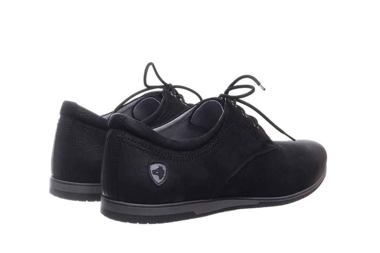 Półbuty bayla-081 877 juma czarna, czarny, skóra naturalna - buty męskie - mężczyzna 10