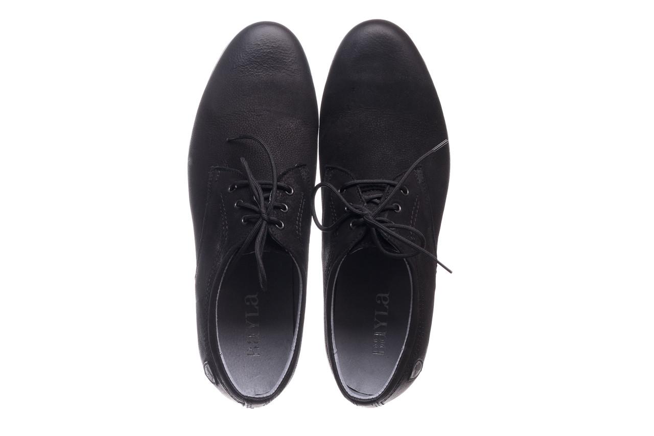 Półbuty bayla-081 877 juma czarna, czarny, skóra naturalna - buty męskie - mężczyzna 11