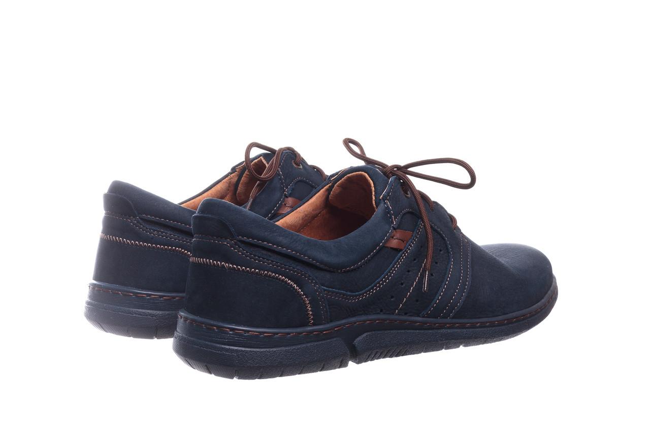 Półbuty bayla-081 870 juma blue ax, granat, skóra naturalna - trendy - mężczyzna 10