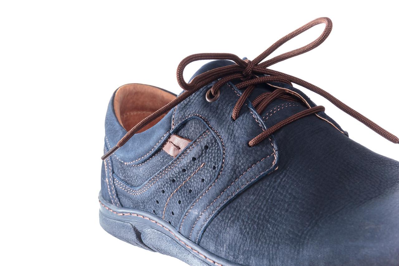 Półbuty bayla-081 870 juma blue ax, granat, skóra naturalna - trendy - mężczyzna 12