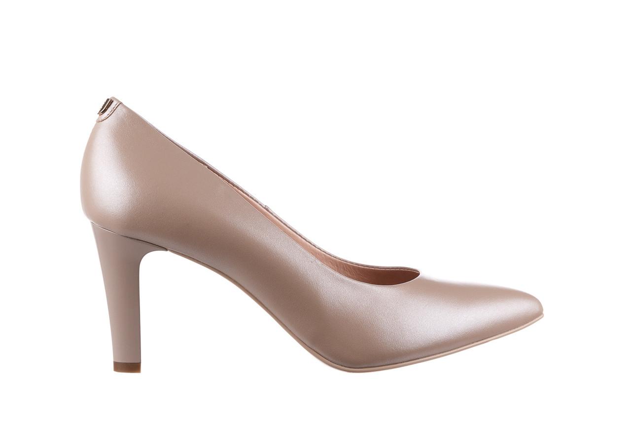 Czółenka bayla-056 7060-1461 beż perła 056516, skóra naturalna  - na słupku - czółenka - buty damskie - kobieta 7
