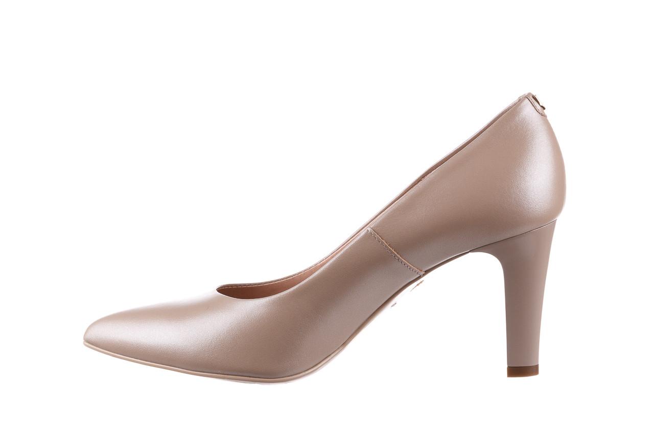 Czółenka bayla-056 7060-1461 beż perła 056516, skóra naturalna  - na słupku - czółenka - buty damskie - kobieta 10
