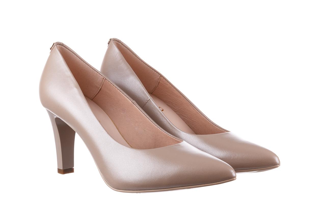 Czółenka bayla-056 7060-1461 beż perła 056516, skóra naturalna  - na słupku - czółenka - buty damskie - kobieta 8