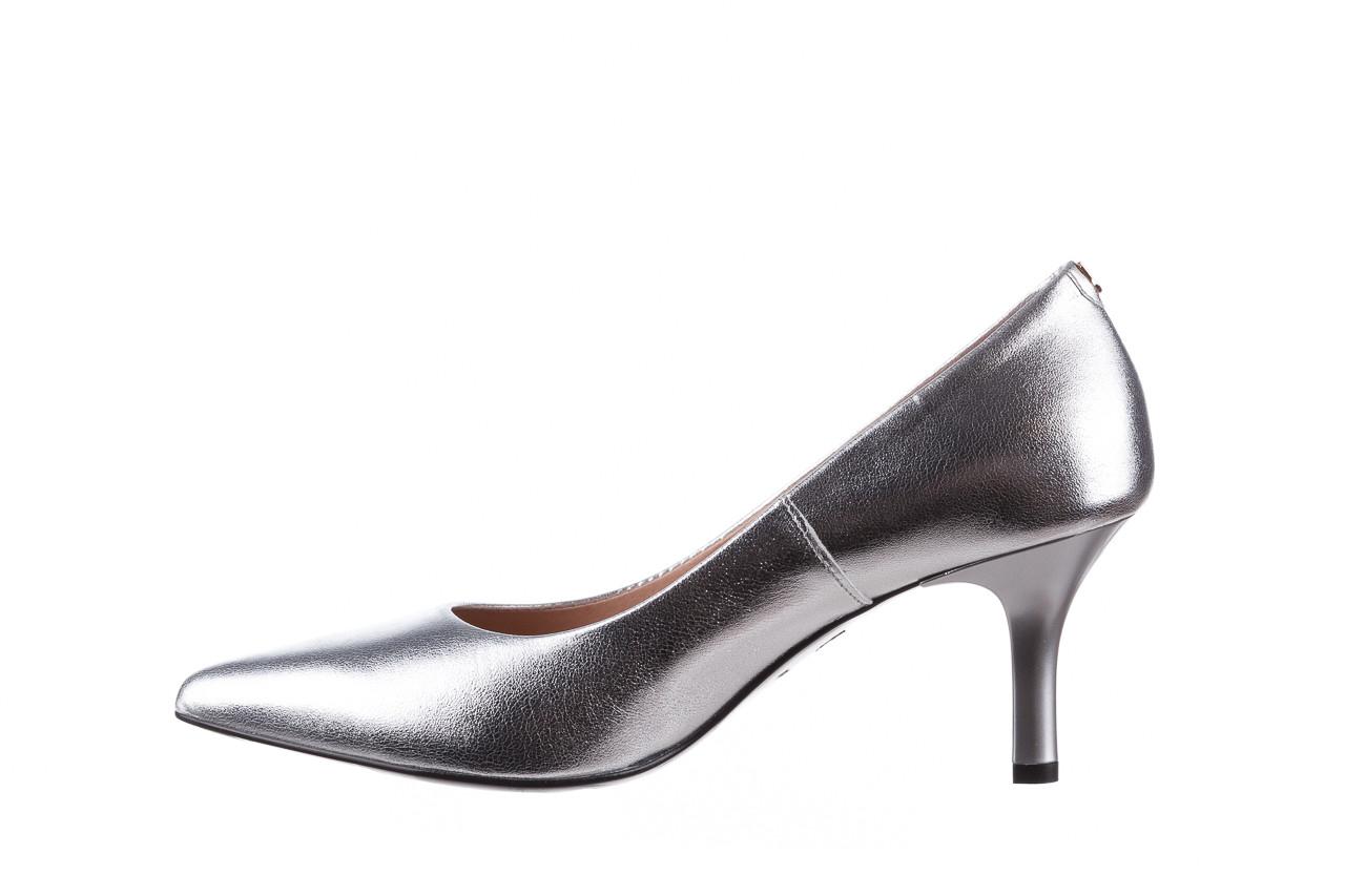 Czółenka bayla-056 9117-1103 srebrny 056518, skóra naturalna  - skórzane - czółenka - buty damskie - kobieta 10