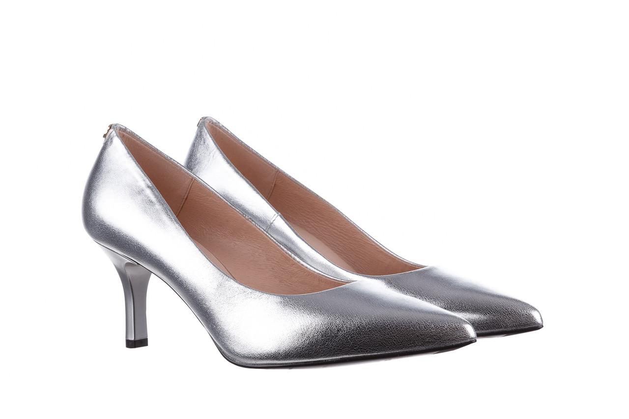Czółenka bayla-056 9117-1103 srebrny 056518, skóra naturalna  - skórzane - czółenka - buty damskie - kobieta 8