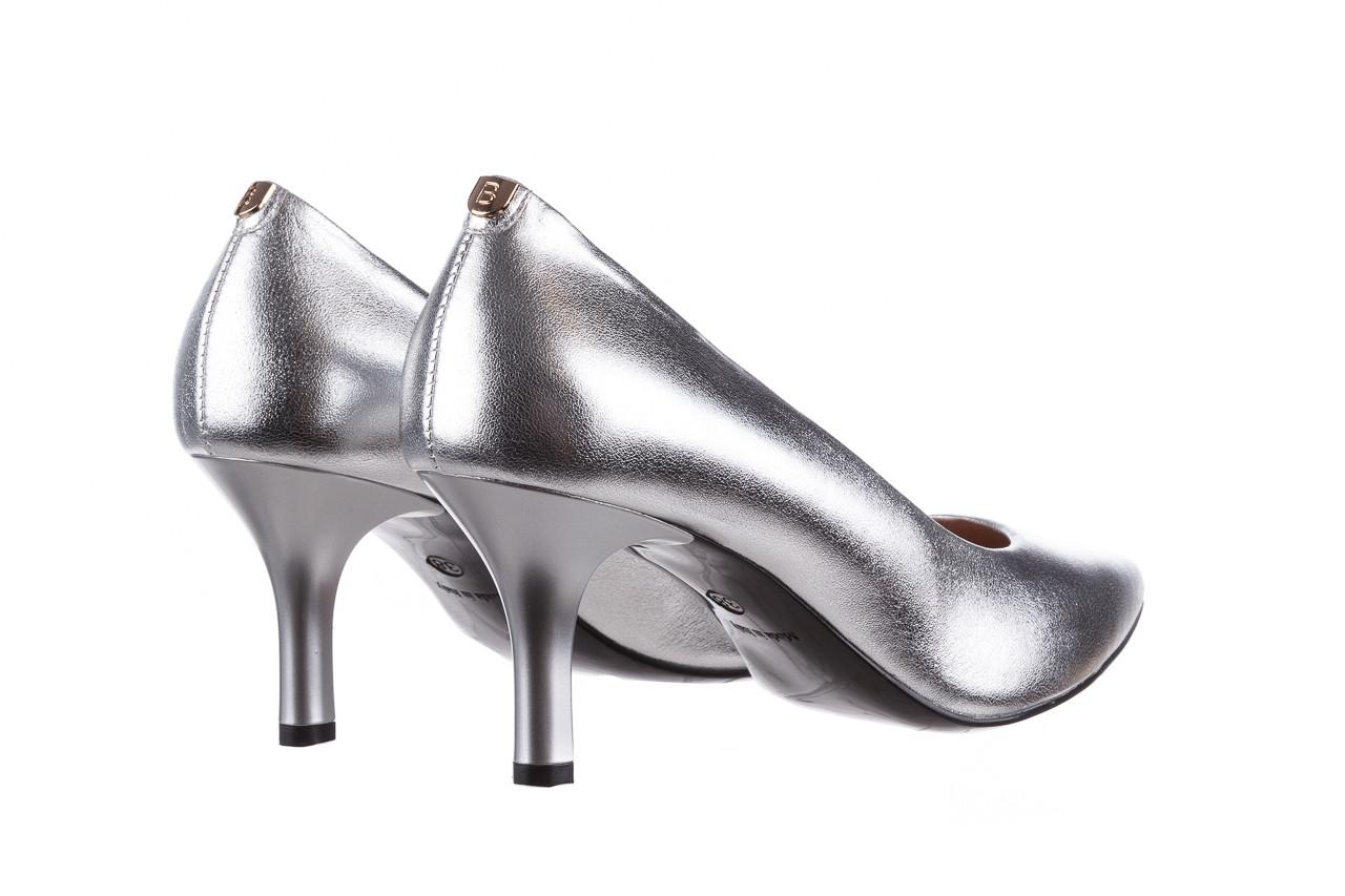 Czółenka bayla-056 9117-1103 srebrny 056518, skóra naturalna  - skórzane - czółenka - buty damskie - kobieta 11