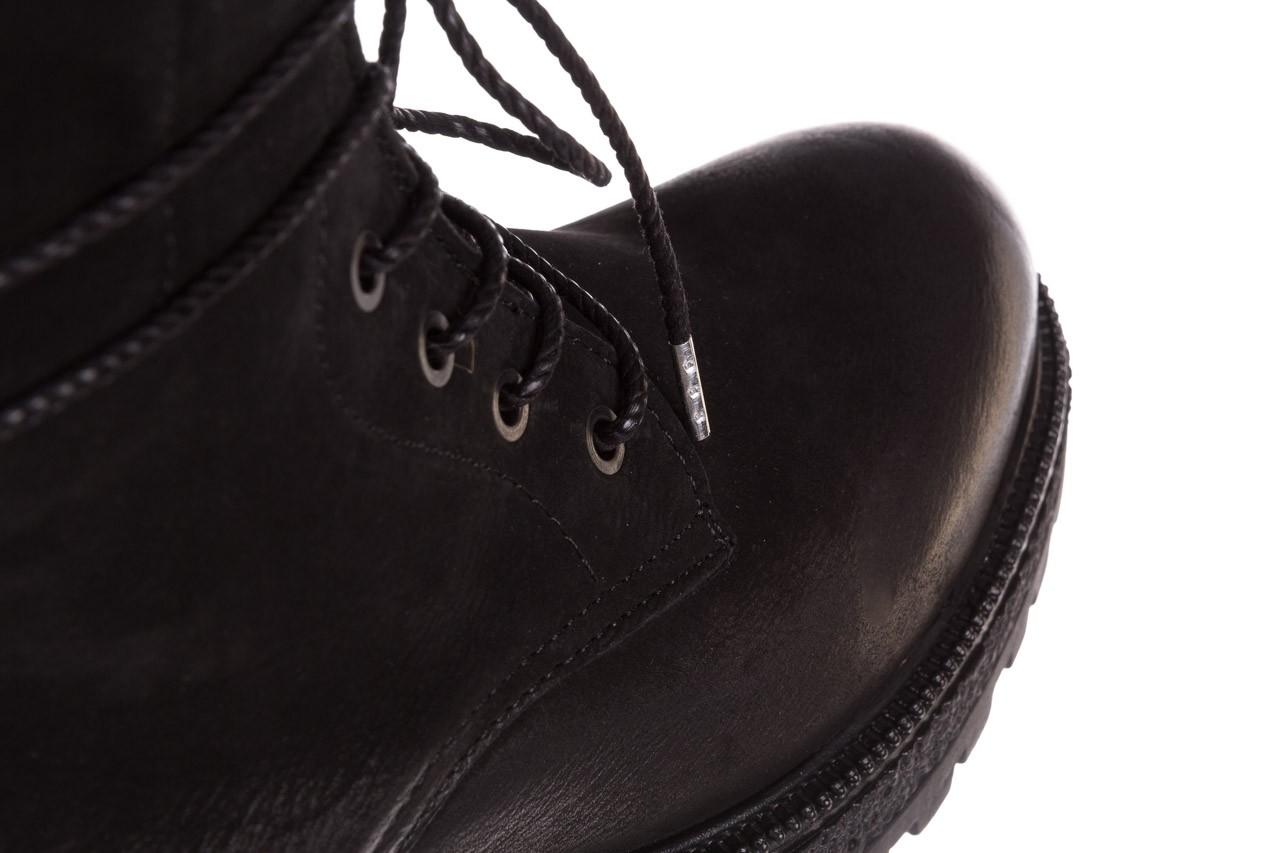 Trzewiki bayla-161 050-0501 black nubuck, czarny, skóra naturalna 18