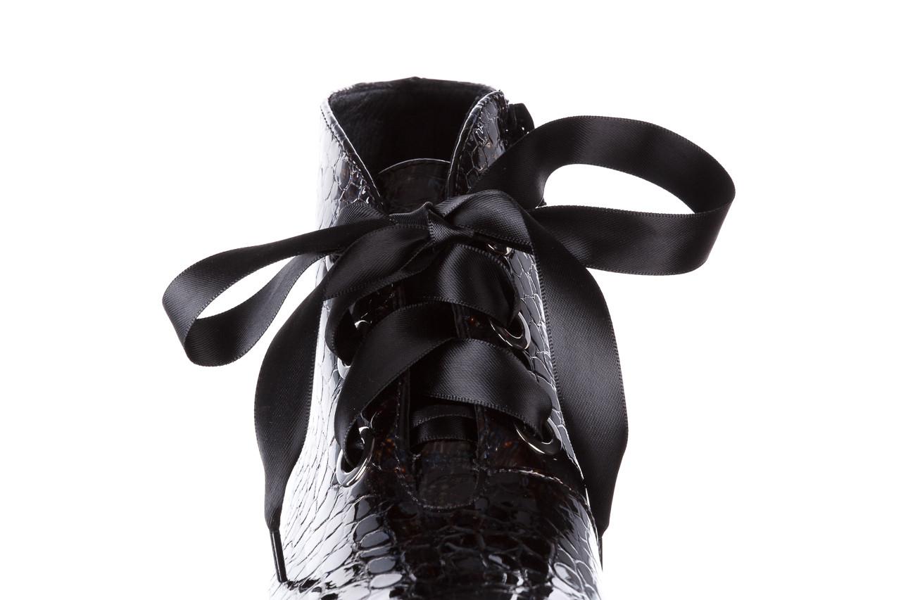 Botki bayla-194 9347 1743 brąz 194003, skóra naturalna lakierowana  - skórzane - botki - buty damskie - kobieta 17
