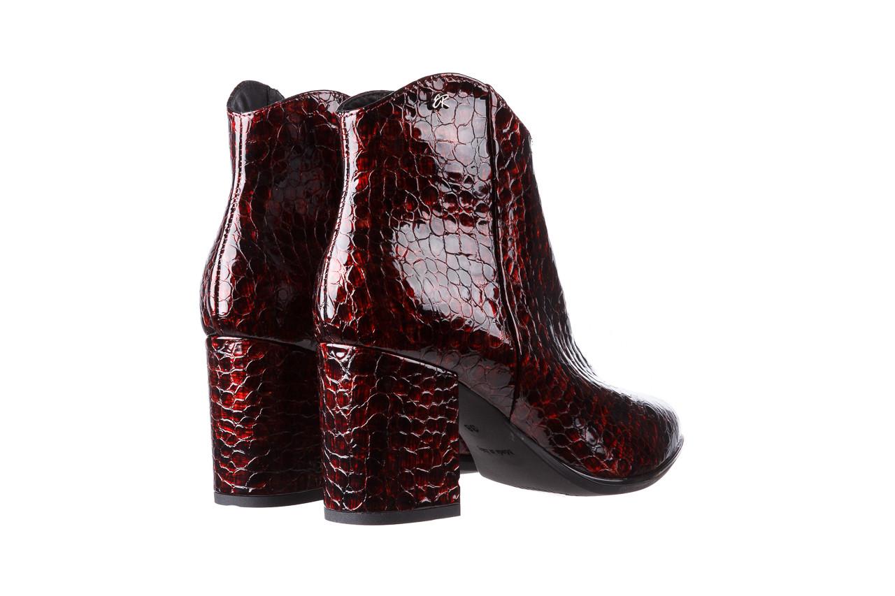 Botki bayla-194 9597 1741 czarny bordo 194002, skóra naturalna lakierowana - skórzane - botki - buty damskie - kobieta 14