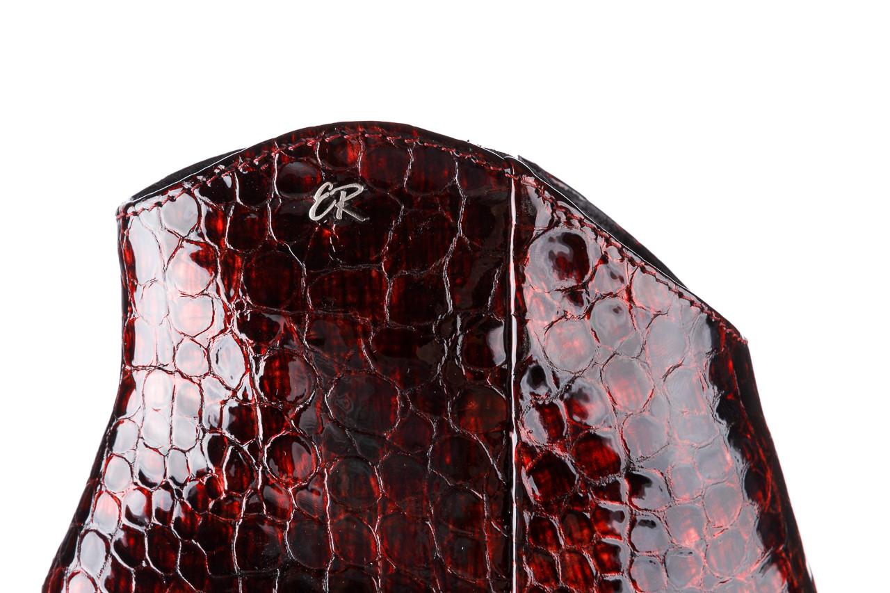 Botki bayla-194 9597 1741 czarny bordo 194002, skóra naturalna lakierowana - skórzane - botki - buty damskie - kobieta 18
