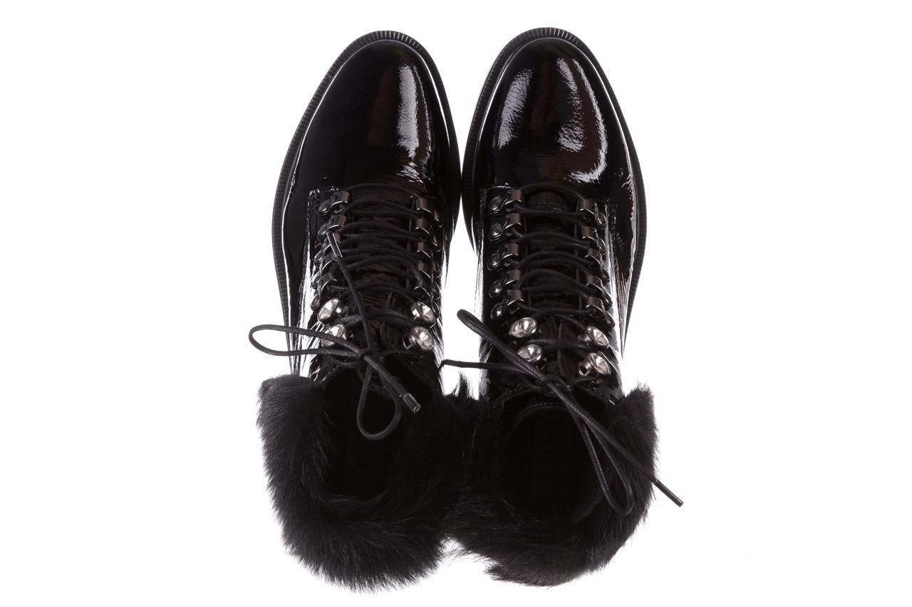 Trzewiki bayla-161 068-9015 black patent, czarny, skóra naturalna lakierowana  - trzewiki - buty damskie - kobieta 14