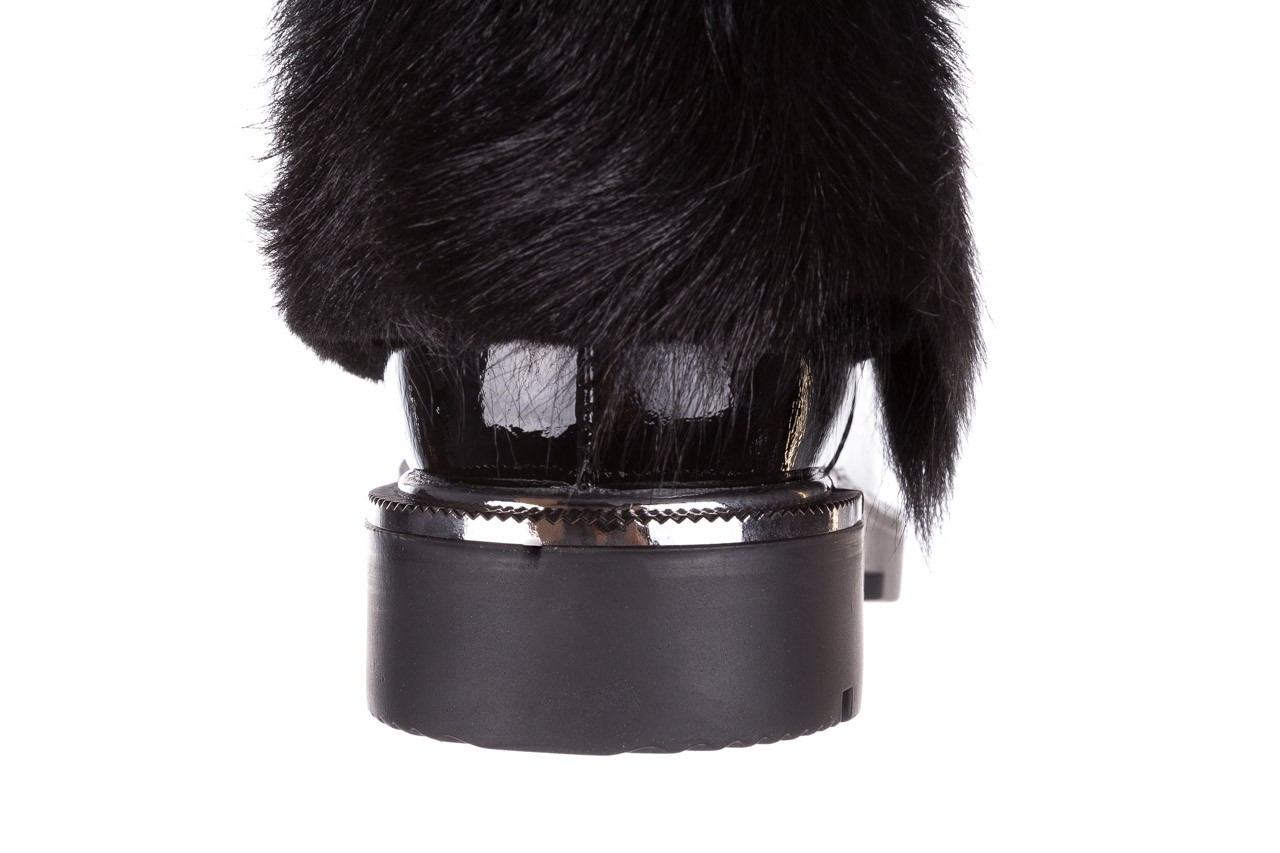 Trzewiki bayla-161 068-9015 black patent, czarny, skóra naturalna lakierowana  - trzewiki - buty damskie - kobieta 17