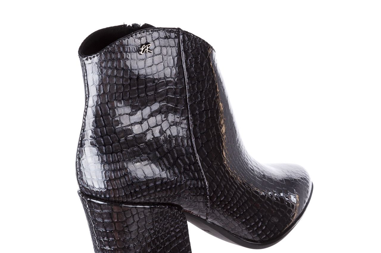 Botki bayla-194 9621 1784 szary 194005, skóra naturalna lakierowana  - skórzane - botki - buty damskie - kobieta 15