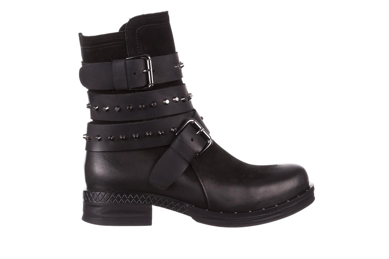 Trzewiki bayla-161 050-2341 black, czarny, skóra naturalna  - trzewiki - buty damskie - kobieta 12