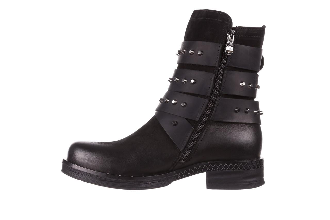 Trzewiki bayla-161 050-2341 black, czarny, skóra naturalna  - trzewiki - buty damskie - kobieta 15