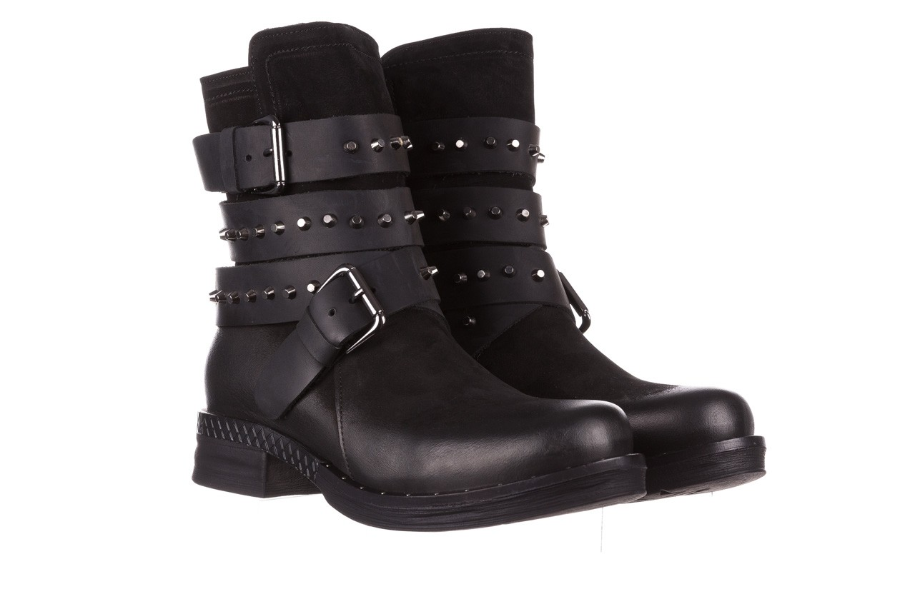 Trzewiki bayla-161 050-2341 black, czarny, skóra naturalna  - trzewiki - buty damskie - kobieta 13