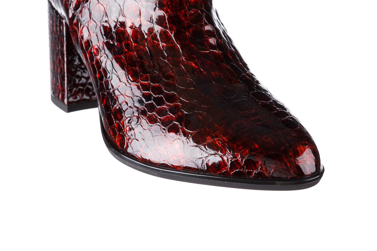 Botki bayla-194 9597 1741 czarny bordo 194002, skóra naturalna lakierowana - skórzane - botki - buty damskie - kobieta 19