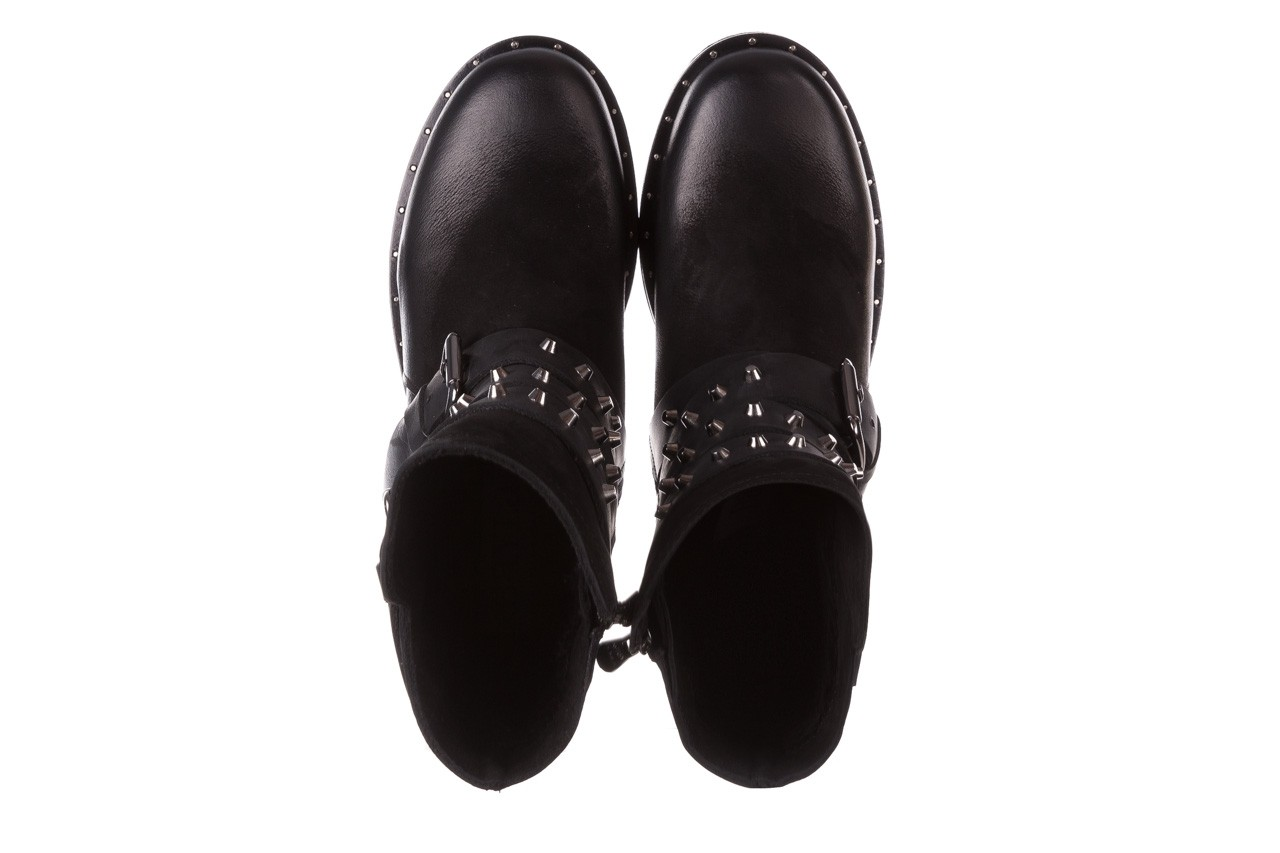 Trzewiki bayla-161 050-2341 black, czarny, skóra naturalna  - trzewiki - buty damskie - kobieta 17