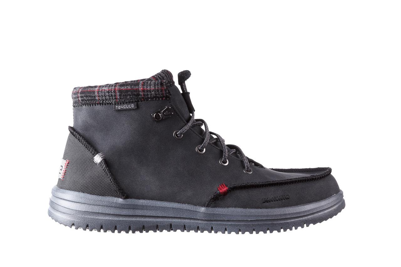 Trzewiki heydude bradley black 003191, czarny, skóra naturalna  - buty męskie - mężczyzna 9