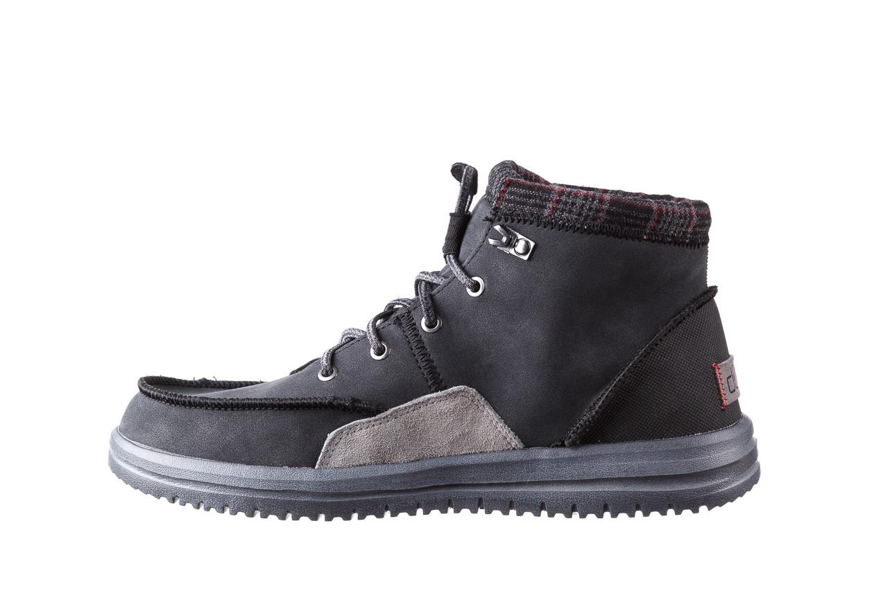 Trzewiki heydude bradley black 003191, czarny, skóra naturalna  - buty męskie - mężczyzna 11