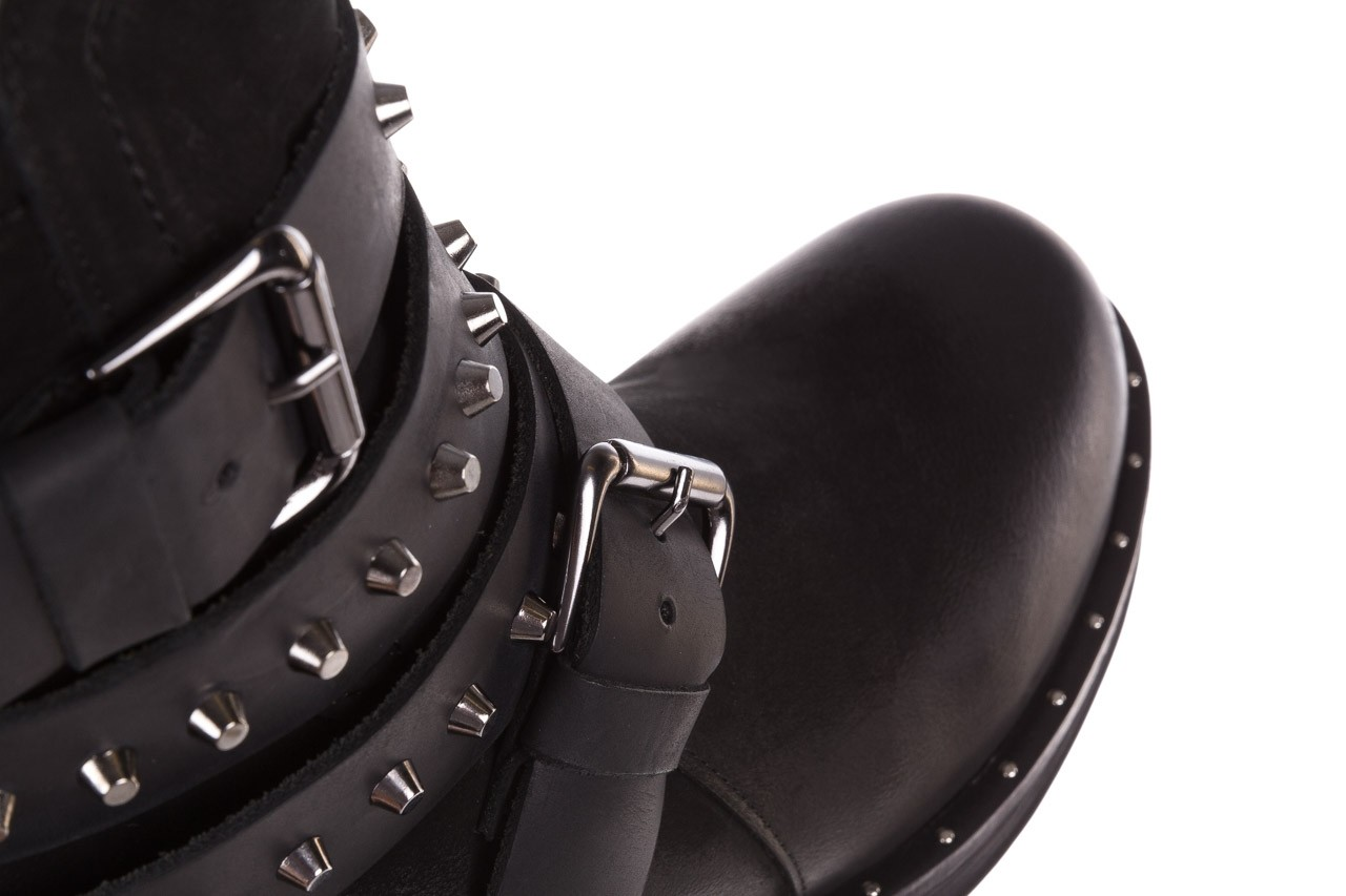 Trzewiki bayla-161 050-2341 black, czarny, skóra naturalna  - trzewiki - buty damskie - kobieta 20