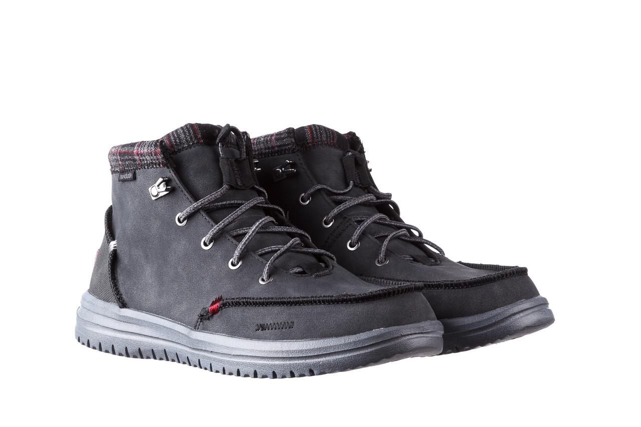 Trzewiki heydude bradley black 003191, czarny, skóra naturalna  - buty męskie - mężczyzna 10