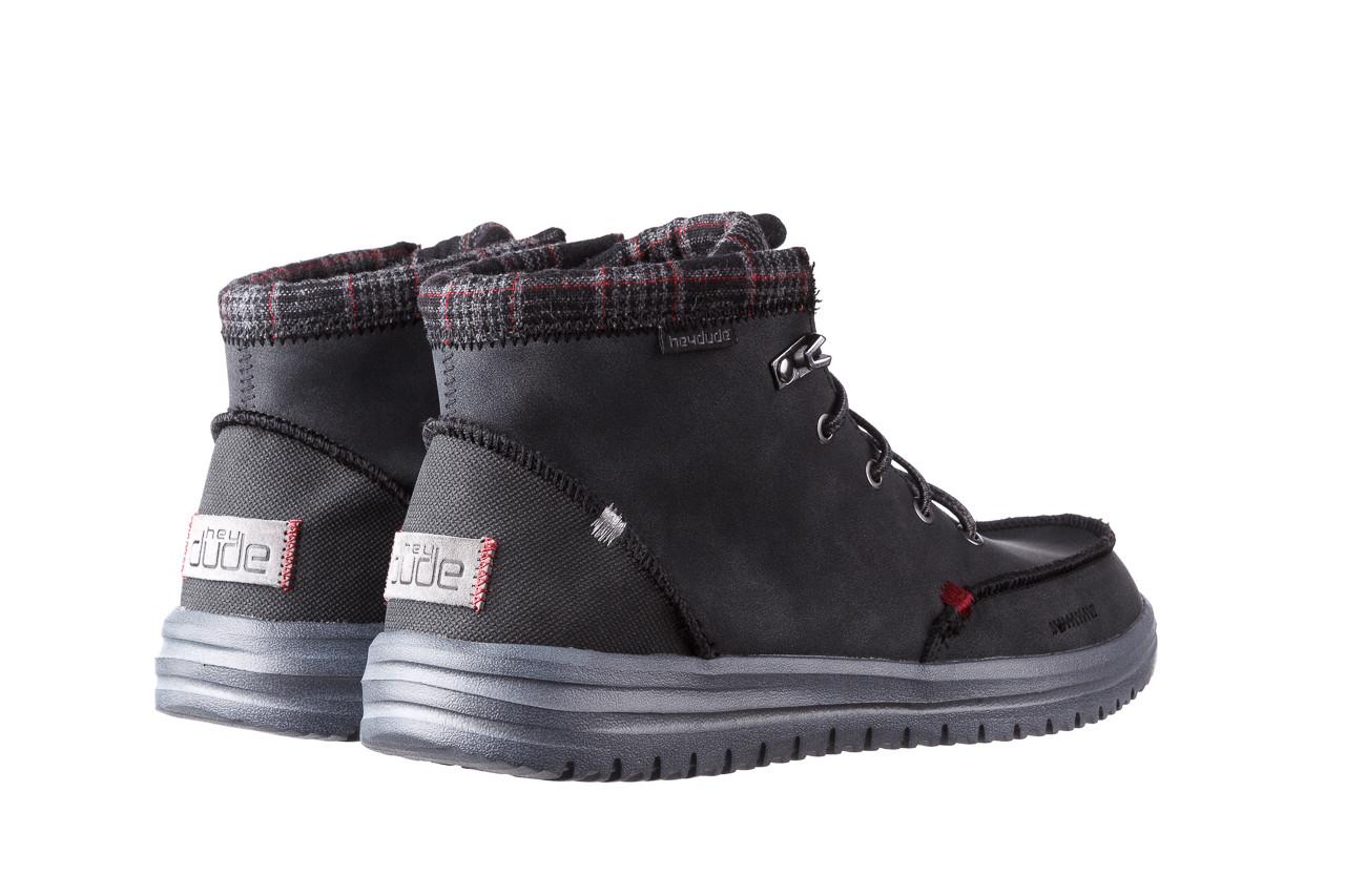 Trzewiki heydude bradley black 003191, czarny, skóra naturalna  - buty męskie - mężczyzna 12