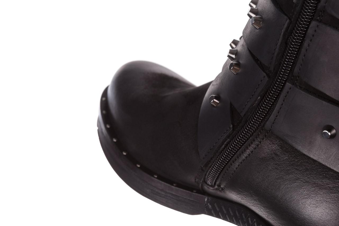 Trzewiki bayla-161 050-2341 black, czarny, skóra naturalna  - trzewiki - buty damskie - kobieta 21