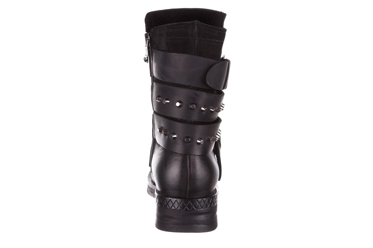 Trzewiki bayla-161 050-2341 black, czarny, skóra naturalna  - trzewiki - buty damskie - kobieta 22