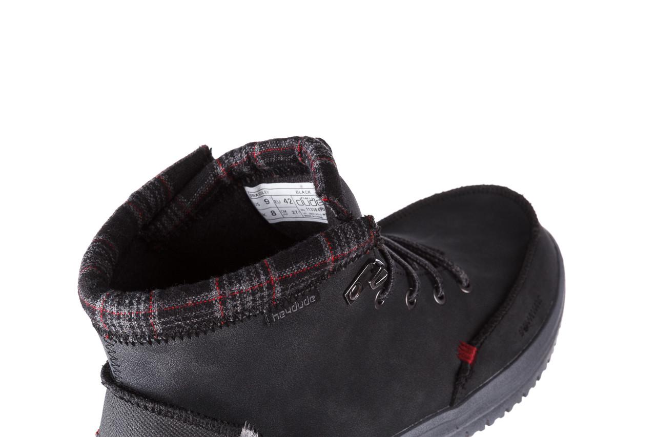 Trzewiki heydude bradley black 003191, czarny, skóra naturalna  - buty męskie - mężczyzna 15