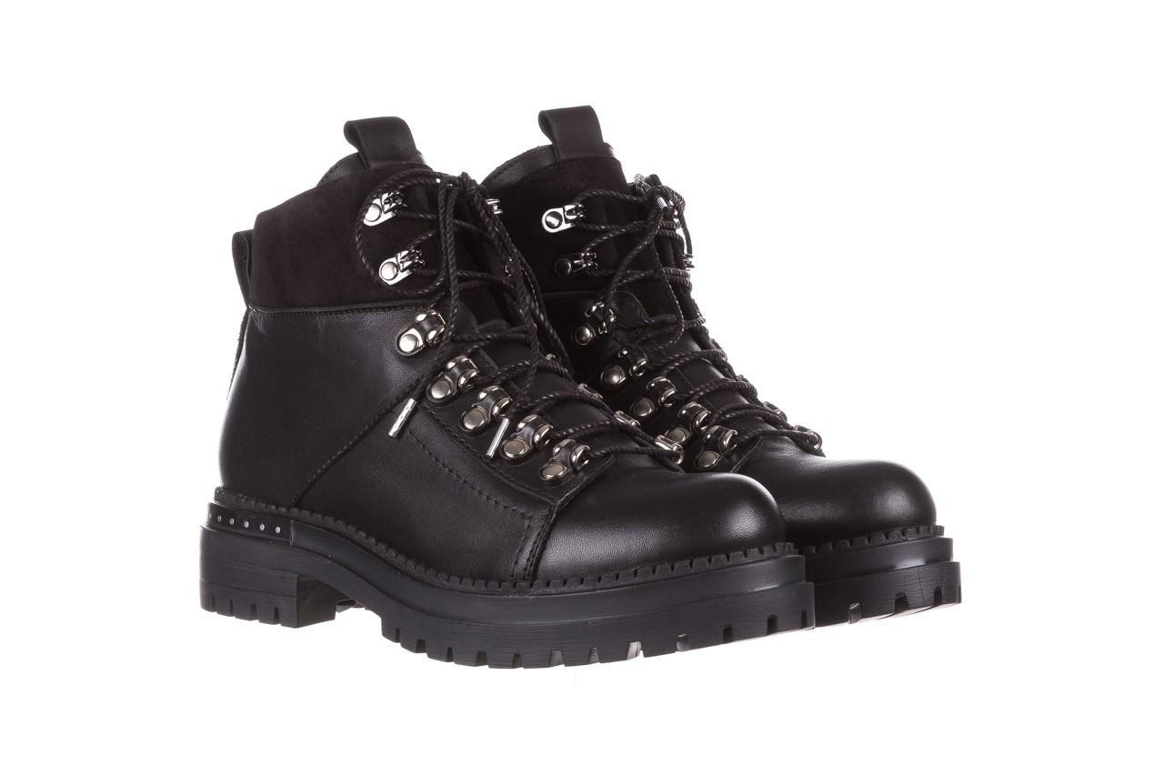 Trzewiki bayla-161 050-7256 black, czarny, skóra naturalna  - trzewiki - buty damskie - kobieta 10